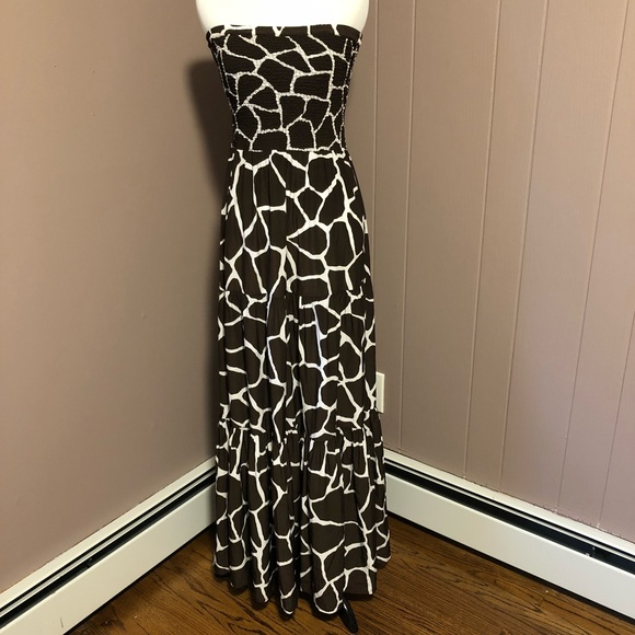 Michael Kors Dresses Giraffe Print Maxi Dress Poshmark